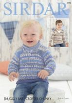 Sirdar Snuggly Baby Crofter Chunky - 4778 Sweaters Knitting Pattern